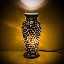 vase lighting. Black Tile Mosaic Glass Vase Lamp Lighting
