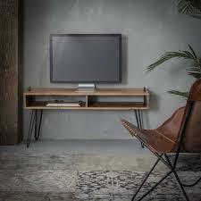 Landelijk Tv Meubel Houston 110cmacaciahoutminimalistisch Onderstel