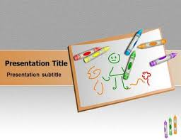 Kids Powerpoint Background Children Drawings Powerpoint Templates Children Drawings