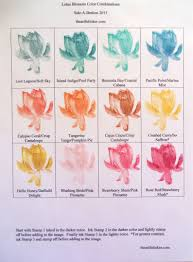 Lotus Flower Color Chart Lotus Blossom Color Combinations Lotus Flower Colors
