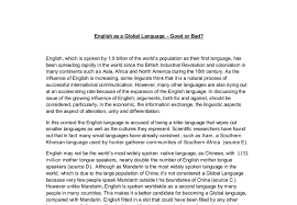 english as a global language good or bad a level general  document image preview