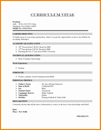 New Resume Format For Freshers Lcysne Com