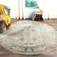 7 ft round rug jute vintage distressed grey multi foot wide area rugs