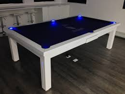 ... Dining Tables, Astonishing Blue Rectangle Modern Wooden Pool Table  Dining Room Table Stained Ideas: ...