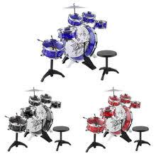 ship from us kids junior drum kit children tom drums cymbal stool drumsticks set al instruments play learning educational toy gift