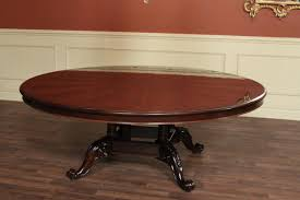 large 84 inch round mahogany dining table round table