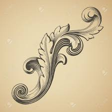 vintage frame tattoo designs. Vector Vintage Baroque Design Frame Pattern Element Engraving Retro Style Scroll By HiSunnySky, Via Shutterstock Tattoo Designs