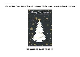 How To Address A Christmas Card Christmas Card Record Book Merry Christmas Address