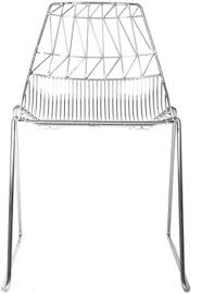 Wire furniture Iron Wire Lucy Stacking Chairs Blume Living Wire Furniture Steel Wire Chairs Tables