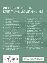 prompts for spiritual journaling christian growth  20 prompts for spiritual journaling