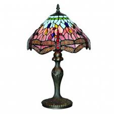 lighting dragonfly antique brass table lamp handmade tiffany glass
