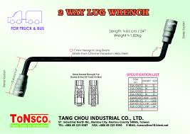 Lug Wrench Sizes Wrench Guide Types General Usage Size Chart