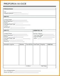 Proforma Invoice Template Pdf Free Proforma Invoice Templates 8