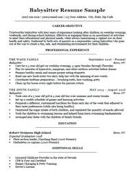 Sample High School Resume No Work Experience Sample Of A High School Resume Babysitter Resume Sample Download