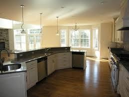Fine Angled Kitchen Island Ideas With Sink And Dishwasher Around Floor Design Inspiration