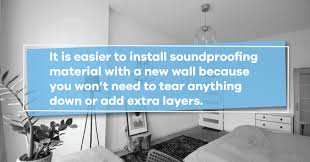 best method for new wall soundproofing