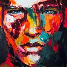 <b>Handmade Oil Painting Pop</b> Art Nielly Francoise Lady Face Modern ...