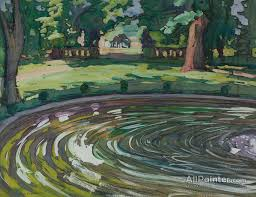 jane peterson paintings for the garden pool