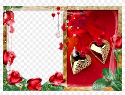 Frames For Photoshop Gold Hearts With Roses Png Photo Frame Love Photo Frames