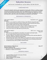 Babysitter Resume Template Cool Babysitter Resume Sample Writing Tips Companion Shalomhouseus