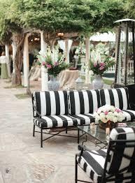 black and white striped furniture. backyard pasadena wedding from desi baytan photography striped couchstriped cushionsblack white black and furniture k