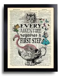 on alice in wonderland wall art quotes with alice in wonderland wall art every adventure requires a first