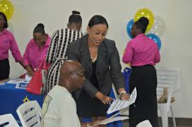 st croix job seekers overwhelm canegata multipurpose center in millicent aubain division of personnel s territorial administrator of recruitment and classification helps a job