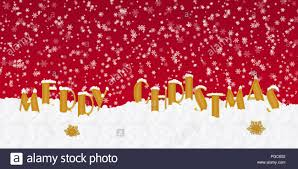 Blank Christmas Background Blank For Christmas Greetings With Letters On Snow And Red Christmas
