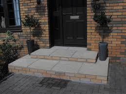 front door stepsBrickwork Services  New large front steps Bothwell  front steps