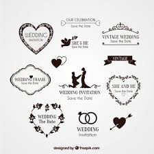 wedding invitations with hearts elements for wedding invitation vector free download