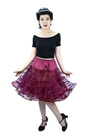 Malco Modes Color Chart Malco Modes Meghan Knee Length Net Crinoline For Stiff Structured Support Under Vintage Clothing And Rockabilly Wear X Large Wine