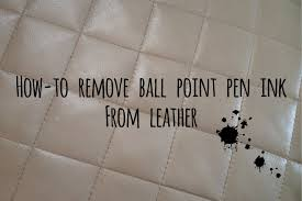 remove ink from leather