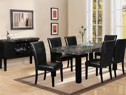 dining room trendy black dining room sets with leather chairs and rectangle coffee table mixed with vine chest of drawer