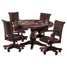 Game Table And Chairs Set Hillsdale Chiswick 5 Piece Game Set Poker Tables At Hayneedle