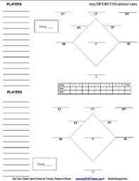 Baseball Field Diagram Fillable Baseball Lineup Sheets Magdalene Project Org