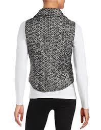 Michael michael kors Petite Quilted Zip-front Vest in Black | Lyst & Gallery Adamdwight.com