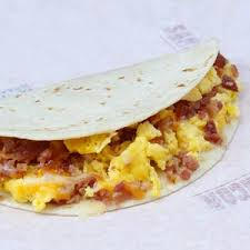 breakfast soft taco bacon
