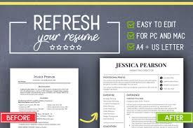 Clean Resume Template Word Mac Pc Resume Templates Creative Market