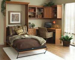simple home office design. simple home office design idea with foldable bed