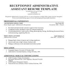 sample resume for medical receptionist resume sample receptionist