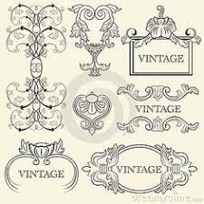 Vintage Frame Design Stock Illustrations Vintage Frame Design