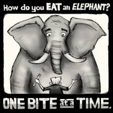 Image result for eating an elephant