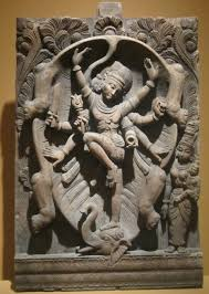 file shiva slayer of the elephant wood carving from south india