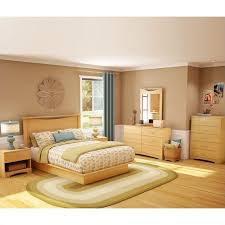 south s copley wood panel headboard 4 piece bedroom set in natural maple