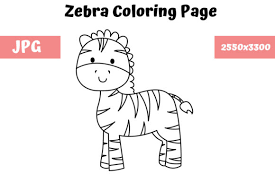 Unique zebra coloring page 61 with additional free coloring kids. Coloring Page For Kids Zebra Graphic By Mybeautifulfiles Creative Fabrica