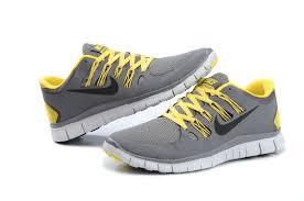 nike mens running shoes. new style nike free 5.0+ mens dark gray yellow black running shoes sneaker