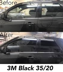 Car Window Tint Film Kit 35 Light Smoke 3m Black Window Tint 35 20 Before And After Photos Ford