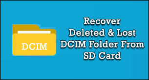 lost dcim folder from sd card