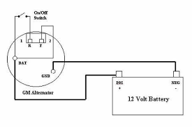 gm 4 wire alternator wiring diagram efcaviation com 2 wire alternator to 1 wire at Gm 1 Wire Alternator Diagram
