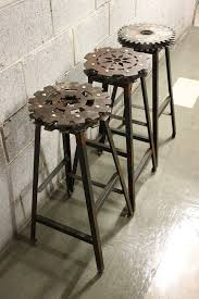 industrial style outdoor furniture. Home And Interior: Amazing Industrial Style Bar Stools Of Copper Stool With Back Rest Modern Outdoor Furniture